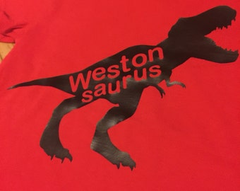 Customized dinosaur tee