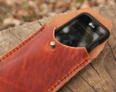 The Johnson - Leather Phone Case from Ike's Outfitters, made from Dublin Horween Leather - Made in USA