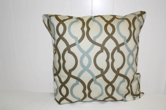 Waverly Decorative Throw Pillow Make Waves Latte Fabric