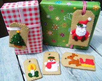 Kerstlabels - compleet viltpakket
