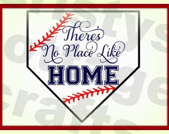 BASEBALL svg file no place like home samantha font