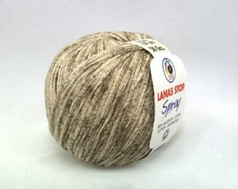 light weight cotton yarn, tape yarn, lanas stop spray, color 244