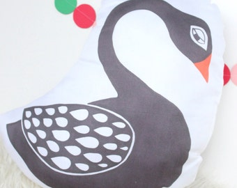 """Black Swan Plush Animal Pillow, 14"""""""