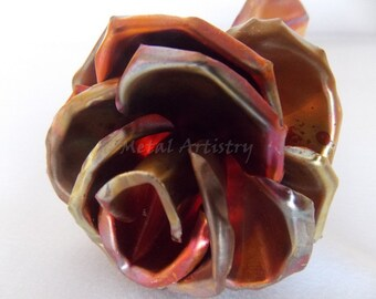 Pure copper rose, flame colored