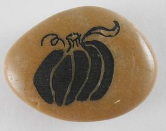 Pumpkin - Engraved River Rock Inspirational Word Stone