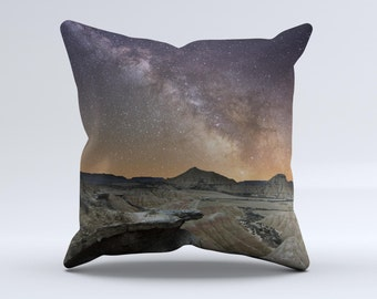The Desert Nights ink-Fuzed Decorative Throw Pillow