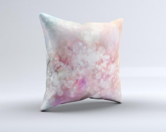 The Unfocused Pink Abstract Lights ink-Fuzed Decorative Throw Pillow