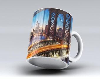Brooklyn Glimpse-ink Fuzed Ceramic Coffee Mug or Tea Cup