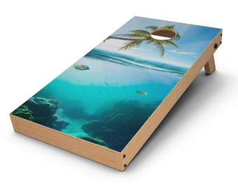 Underwater Reef - Cornhole Board Skin Kit