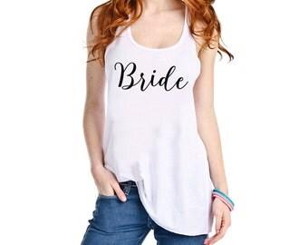Bride Tank Top ~ Bachelorette Party ~ Wedding Day Tank ~ Bride