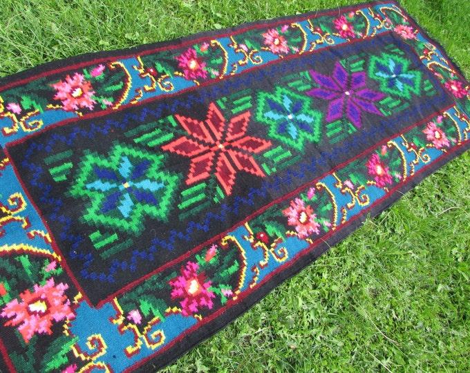 Moldovan Kilim. Tapis moldave,Large rug,Moldova rug. Tapis moldave,Large rug, Bessarabian Kilim. Vintage Kilim, Handmade , rose kilim rug.