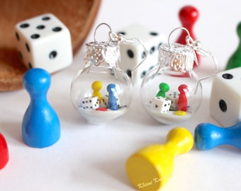 Gamer earring board game fashion jewelry player decoration