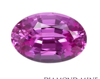 A Beautiful NaturalSapphire 1.35 Pink Oval Extra