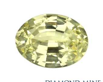 1.4 Carat Yellow Sapphire, Oval cut Sapphire, Loose Sapphire Gemstone, Yellow Gemstone, Non Heated Real Sapphire
