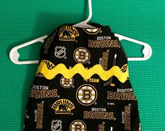 Boston Bruins Pet Dress, Boston Bruins Dog Dress, NHL Dog Dress, NHL Pet Dress, Hockey Dog Dress, Hockey Pet Dress, Velcro Dog Dress