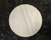"Large 1/2"" Thick Oak Unfinished Wood Circle, 2.5"", 3"", 3.5"", 4"", 4.5"" or 5"" Diameter for Arts and Crafts Projects"