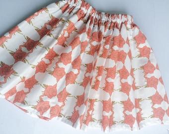 Barbeline's print elastic waist skirt