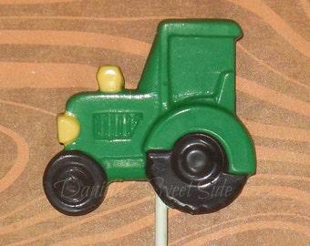12 Chocolate Tractor Lollipop Favor Farm Barnyard  John Deere ~  Choose your Color