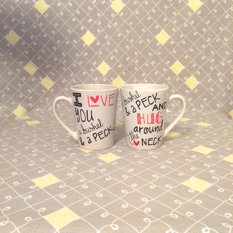 I Love You A Bushel And A Peck Necklace: I Love You A Bushel And A Peck. Double Mug. By