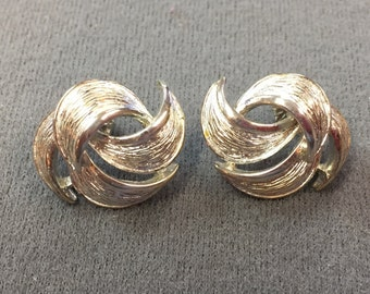 Signed Givenchy Silver-tone Pierced Earrings .  Free shipping