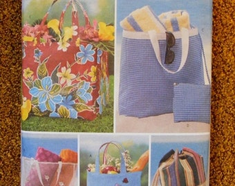 51% OFF Bag / Tote / Sack / Beach Bag Butterick Craft Sewing Pattern 3562