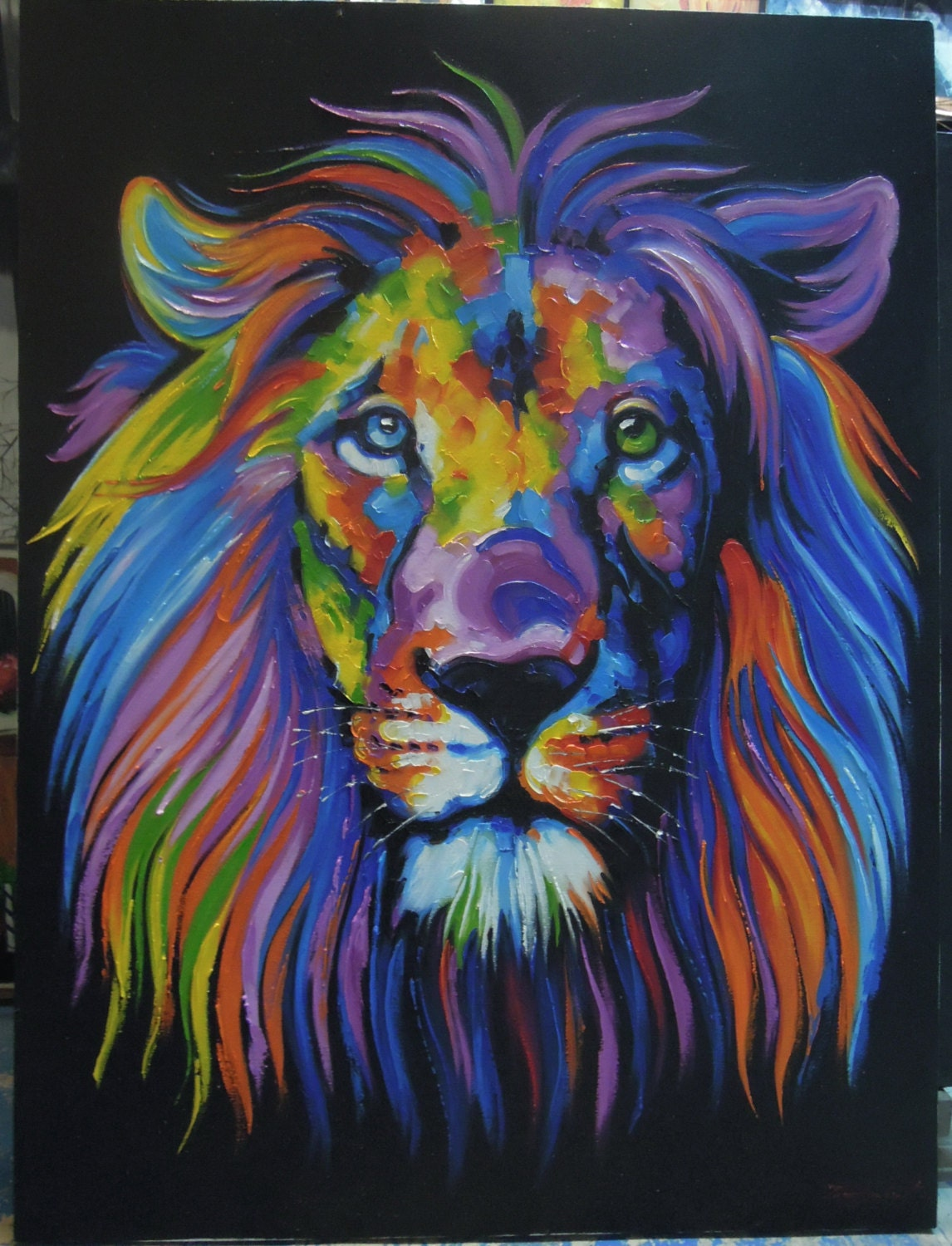 Colorful lion painting - photo#55