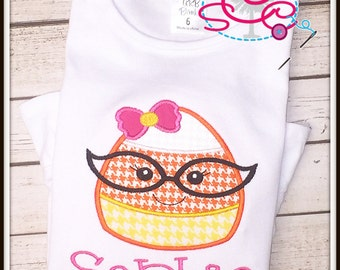 Personalized Girl Candy Corn Shirt/Bodysuit