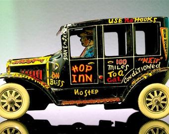 Marx Old Jalopy Vintage Steel Lithographed Car