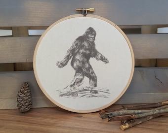 Bigfoot Sasquatch print