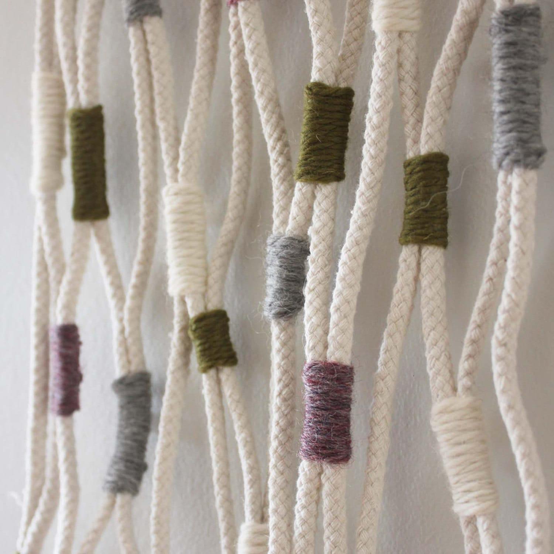 Modern Weaving Fiber Art Rope Wall Art Wall Hanging