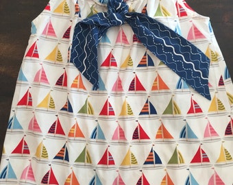 Adorable sailboat dress by Baxter & Beatrice / size 5