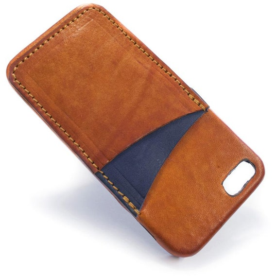 iPhone 5C attention device 5C Italian leather Case with 2 credit card holder vertical slots choose BODY and ACCENT colour