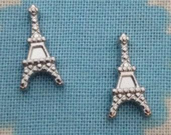 Eiffel Tower floating locket charm