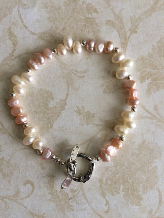 Artisan Pearl and Silver Bracelet