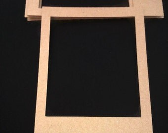 pack of 10 card photo frames instagram frame card picture frame kraft card frame card stock scrapbooking supplies card making supplies