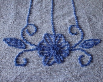 FREE US Shipping Chenille light blue