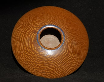 Artistic Leopard Wood Bowl with Stone inlay