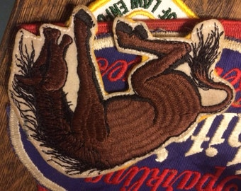 """Vintage, Wild Bucking Stallion, Horse Patch, Never Worn, Large, Approx. 5"""""""
