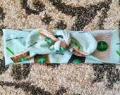 Coffee Headwrap for Babies, Toddlers, and Girls. Knotted headband. Starbucks inspired hair accessory