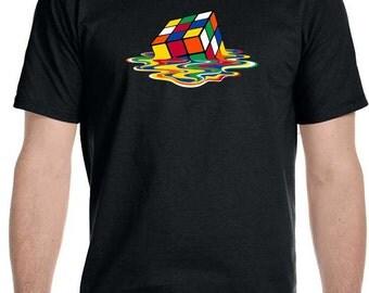 Melting Rubik's Cube T-Shirt As seen on The Big Bang Theory!