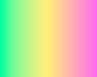 Mint, light yellow and pink Ombre print craft  vinyl sheet - HTV or Adhesive Vinyl -  fade gradient print vinyl  HTV3114