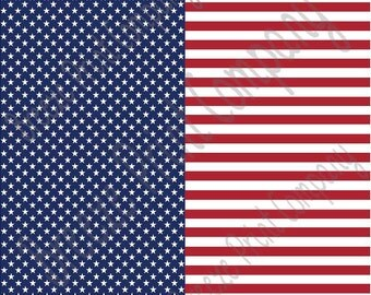 American flag patterned stars and stripes  vinyl sheet 12x12- cutter  matte or gloss decal Cricut Silhouette craft supplies DV2800