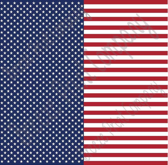 American Flag Patterned Stars And Stripes By