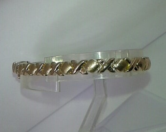 X's and O's Bracelet 14K Solid Gold