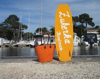 NEW and FRESH orange straw bag