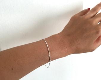 100% sterling silver beaded bracelet, dainty silver bracelet, gold filled beaded bracelet , silver chain bracelet , gold chain bracelet