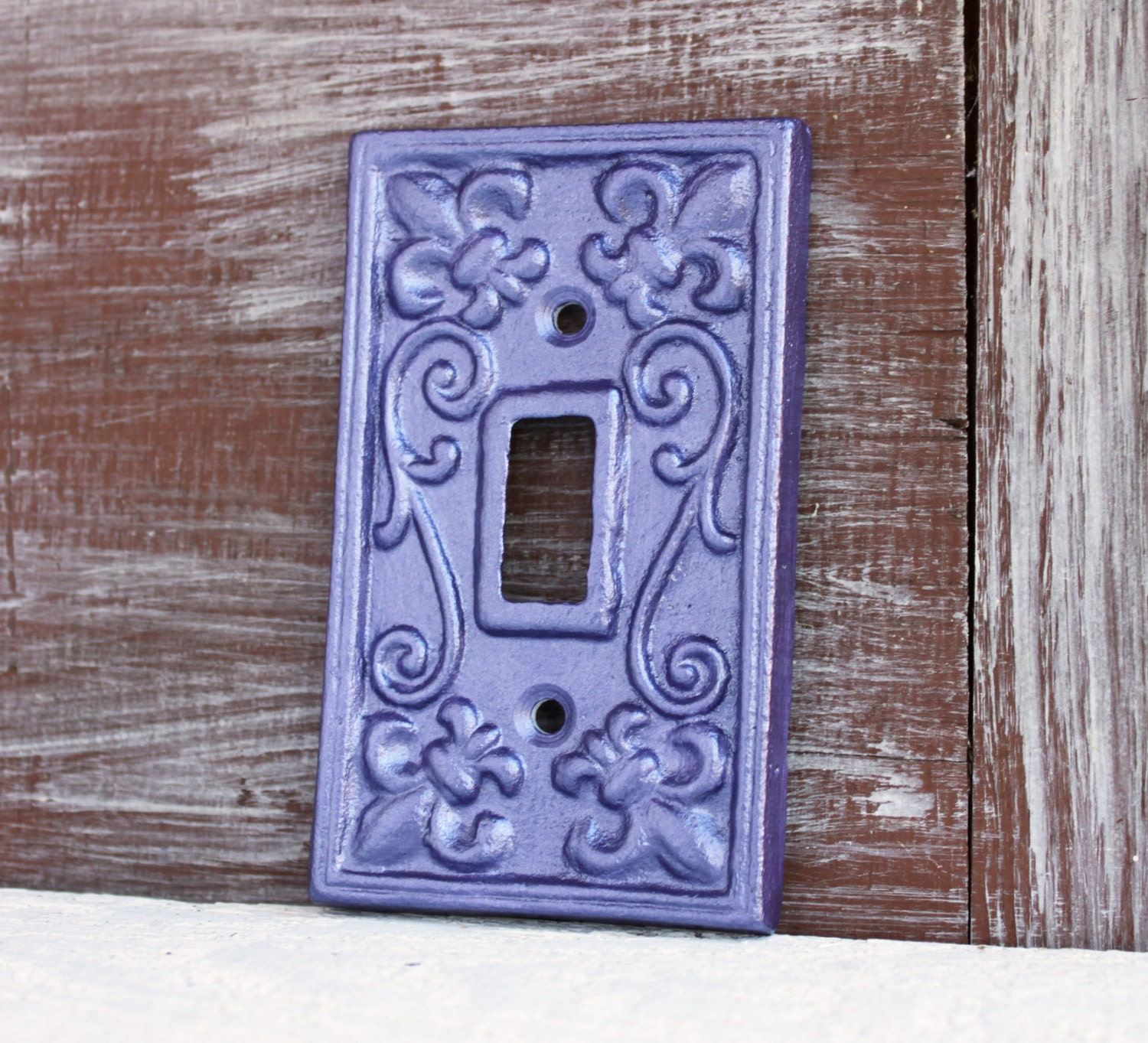 Light Switch Plate Cover: Light Switch Cover Purple Switchplate Cover Lightswitch