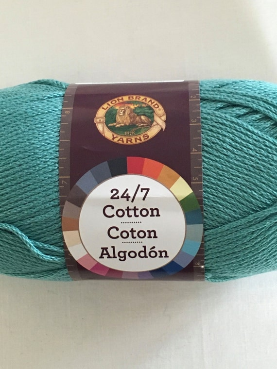 Lion Brand 24 7 Cotton Worsted Weight Mercerized Cotton Yarn