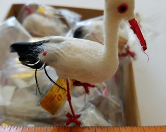 """LoT 18  3"""" Storks, Vintage, Cotton & Feather..Shower Cake CupcakeToppers"""