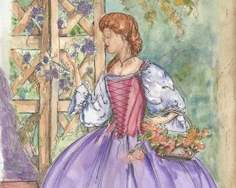 Watercolor Vignette